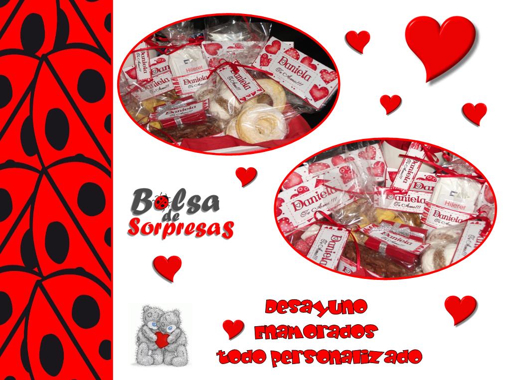 Bolsa de sopresas desayuno enamorados san valentin - Sorpresas para enamorados ...