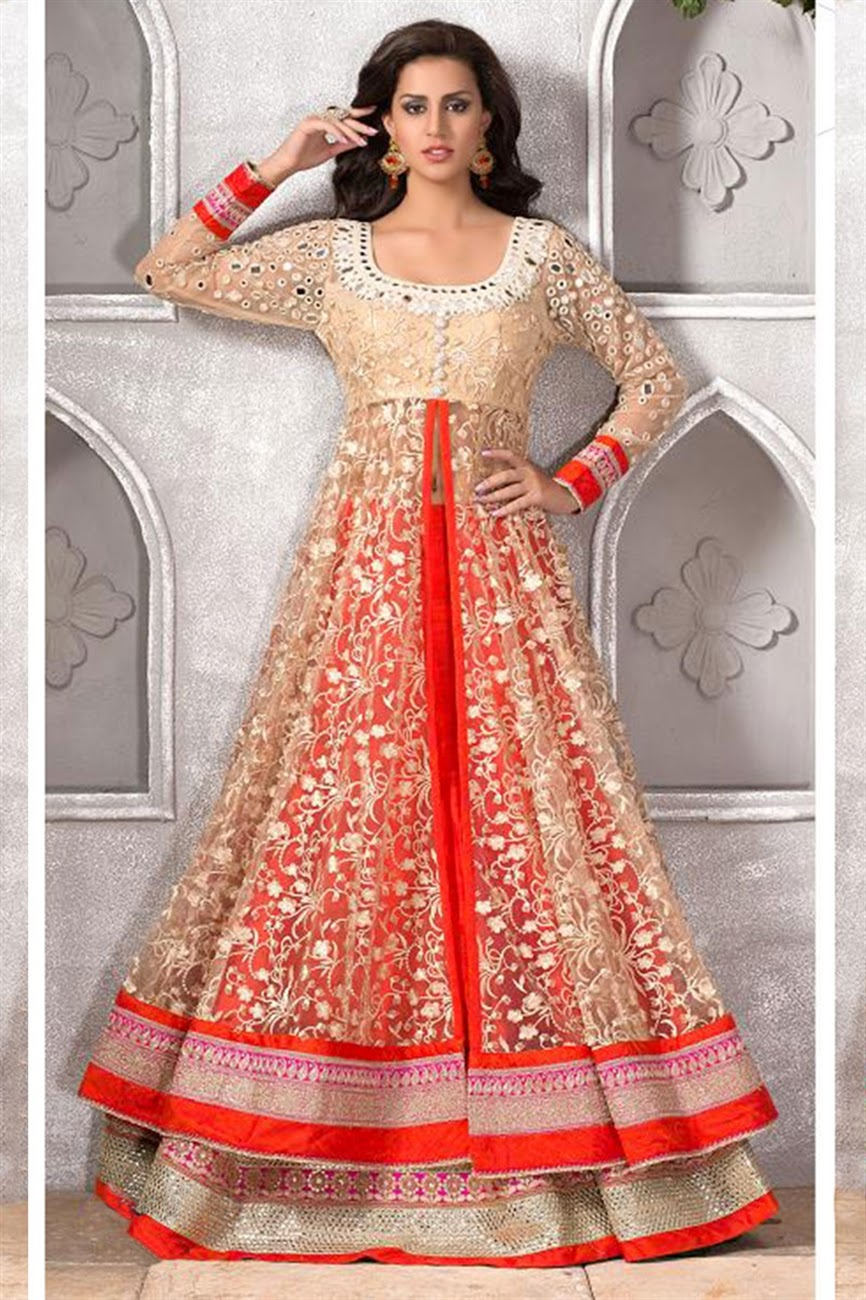 Designer Party Wear Lehenga And Churidar Suits 2015 Collection