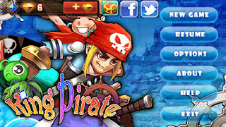 Screenshots of the King Pirate for Android tablet, phone.