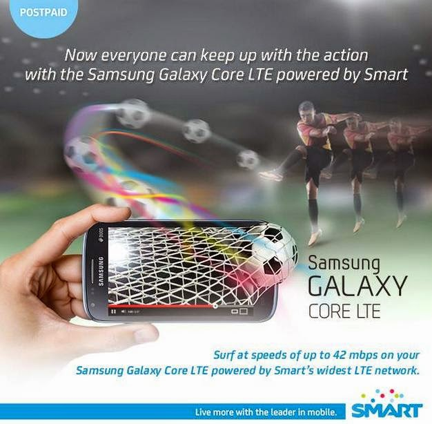 Samsung Galaxy Core LTE Free at Smart Unlisurf Plan 999