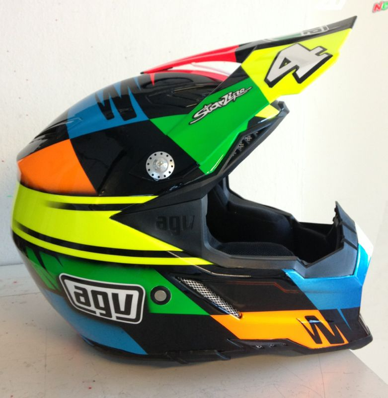 racing helmets garage agv ax 8 evo t chareyre 2013 by starline. Black Bedroom Furniture Sets. Home Design Ideas
