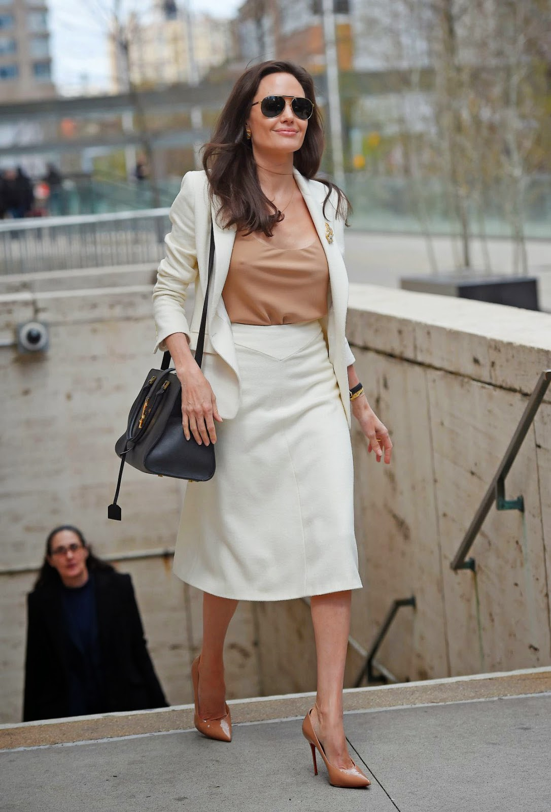 Angelina Jolie leaving Lincoln Center in NY after a meeting