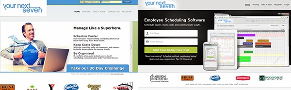 employee scheduling software redesign