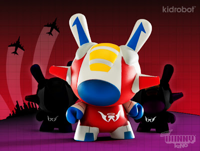 Kidrobot x Transformers Starscream Inspired Flight 3″ Dunny by kaNO