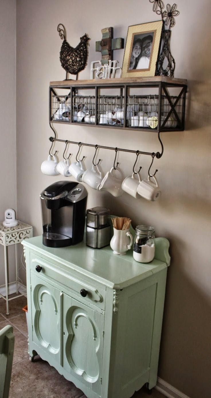 ganchos para pendurar xícaras - foto via Pinterest
