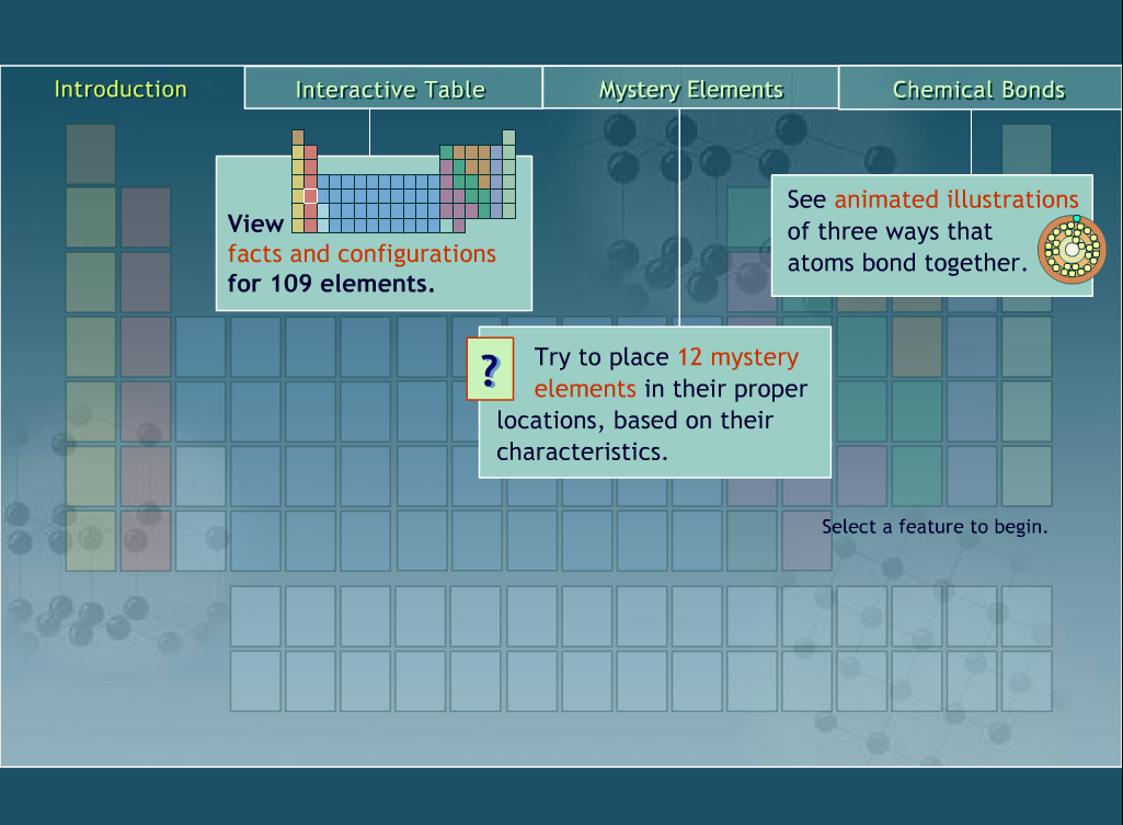 Interactive periodic tables games technology rocks seriously pbs learning has a wonderful periodic table page that includes an interactive table mystery elements and chemical bonds urtaz Images