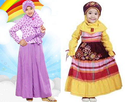 baju muslim anak perempuan keke