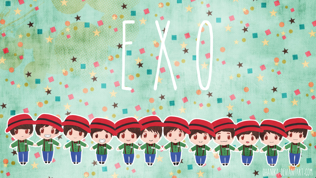 Korean Idol Wallpaper Korean Idol Wallpaper Exo Mid Chibi Hd Wallpaper