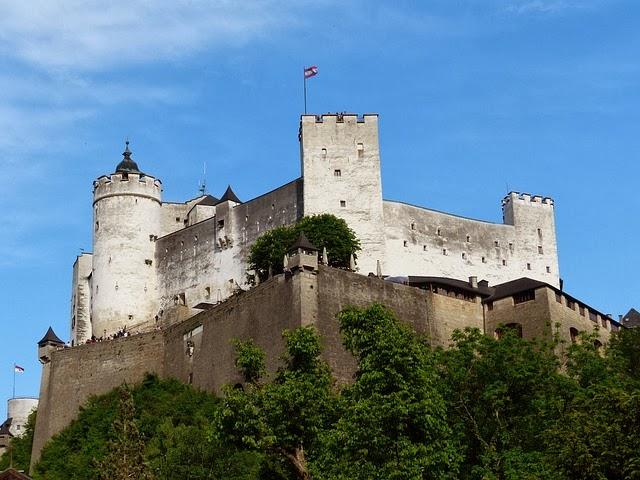 Hohensalzburg Fortress At Salburg City Austria