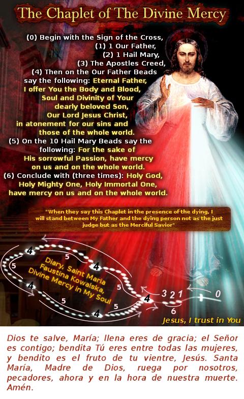 imagen coronilla de la divina misericordia en ingles