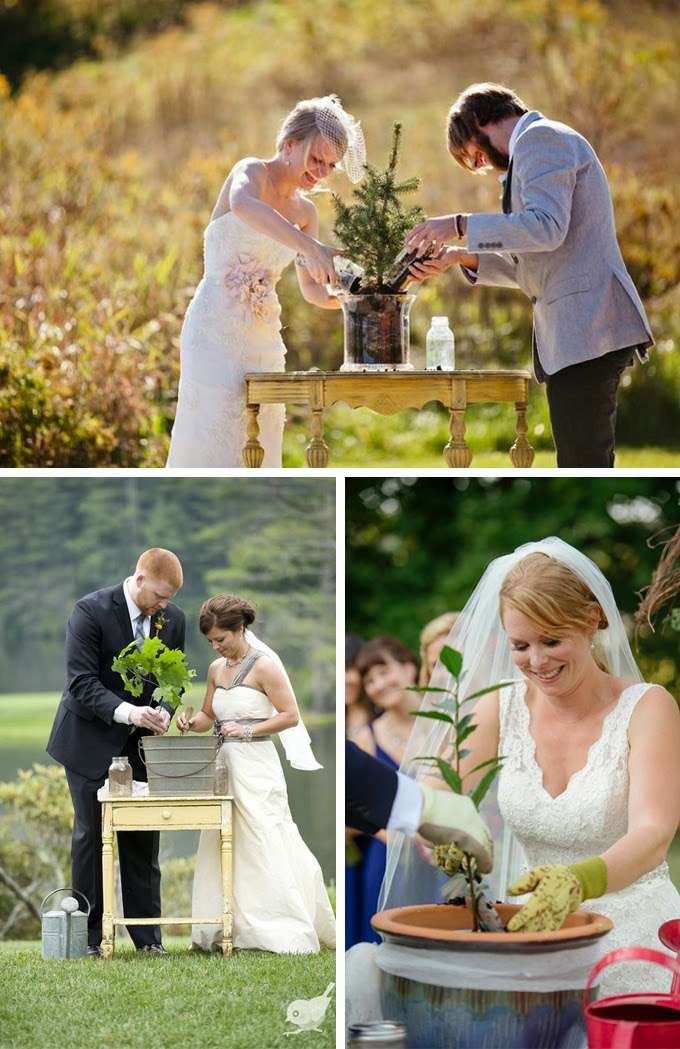 Tree Planting Wedding Unity Ceremony
