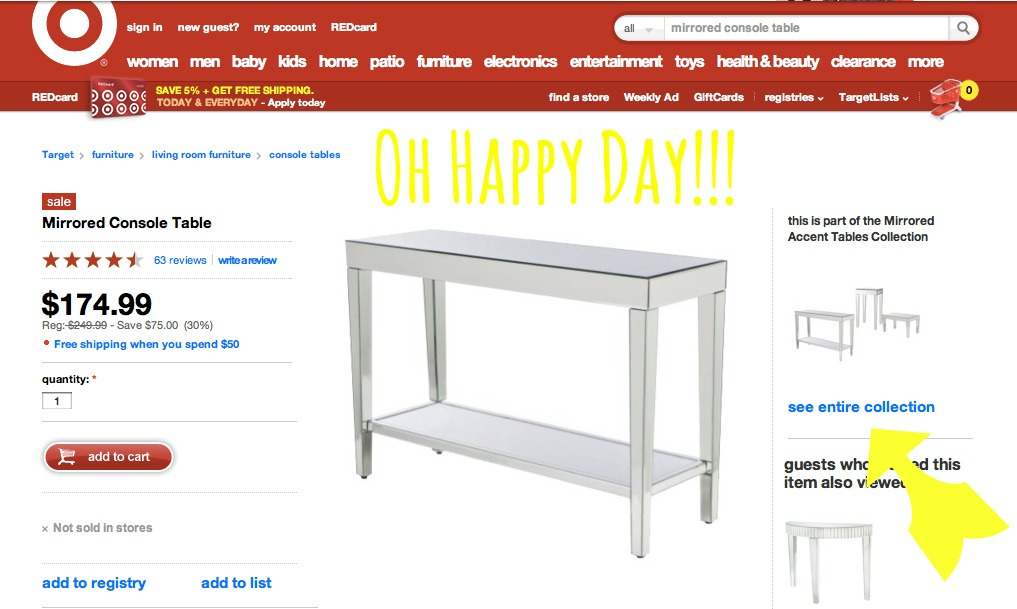 Our Fifth House: My New Mirrored Console Table ......from you'll ...