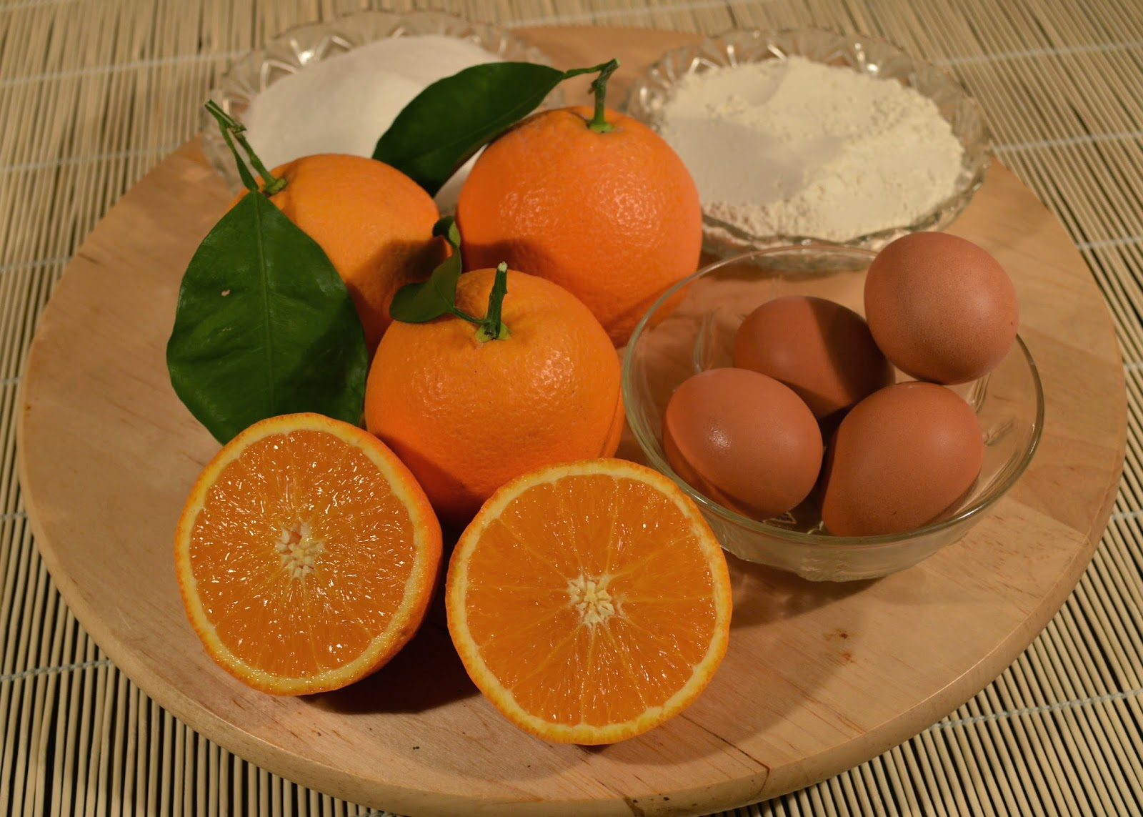 Ingredientes Pastel de naranja