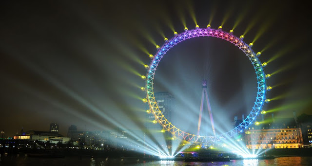 Ojo de londres (London Eye) en Año Nuevo
