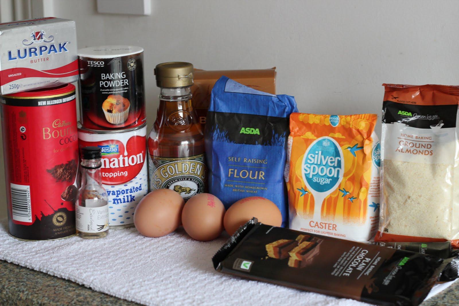 Esther food adventure chocolate fudge cake for Chocolate sponge ingredients