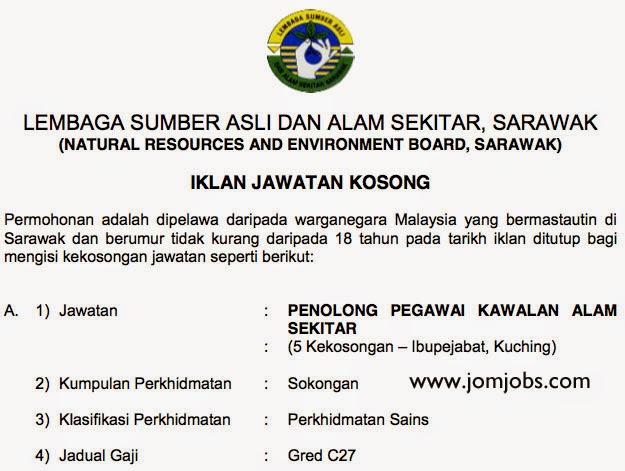 Iklan Jawatan Kosong Lembaga Sumber Asli Sarawak