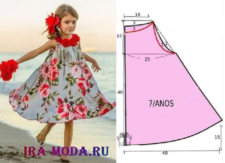 Простые выкройки летних платьев 18