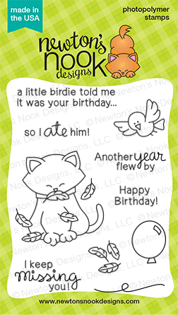 Newton's Birthday Flutter Stamps by Newton's Nook Designs