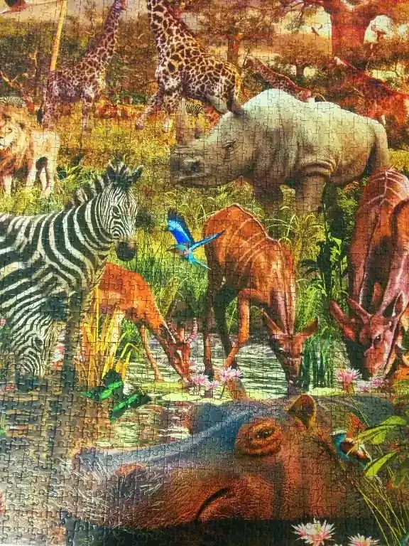 Ravensburger African Animals 3000 piece jigsaw puzzle close-up 3