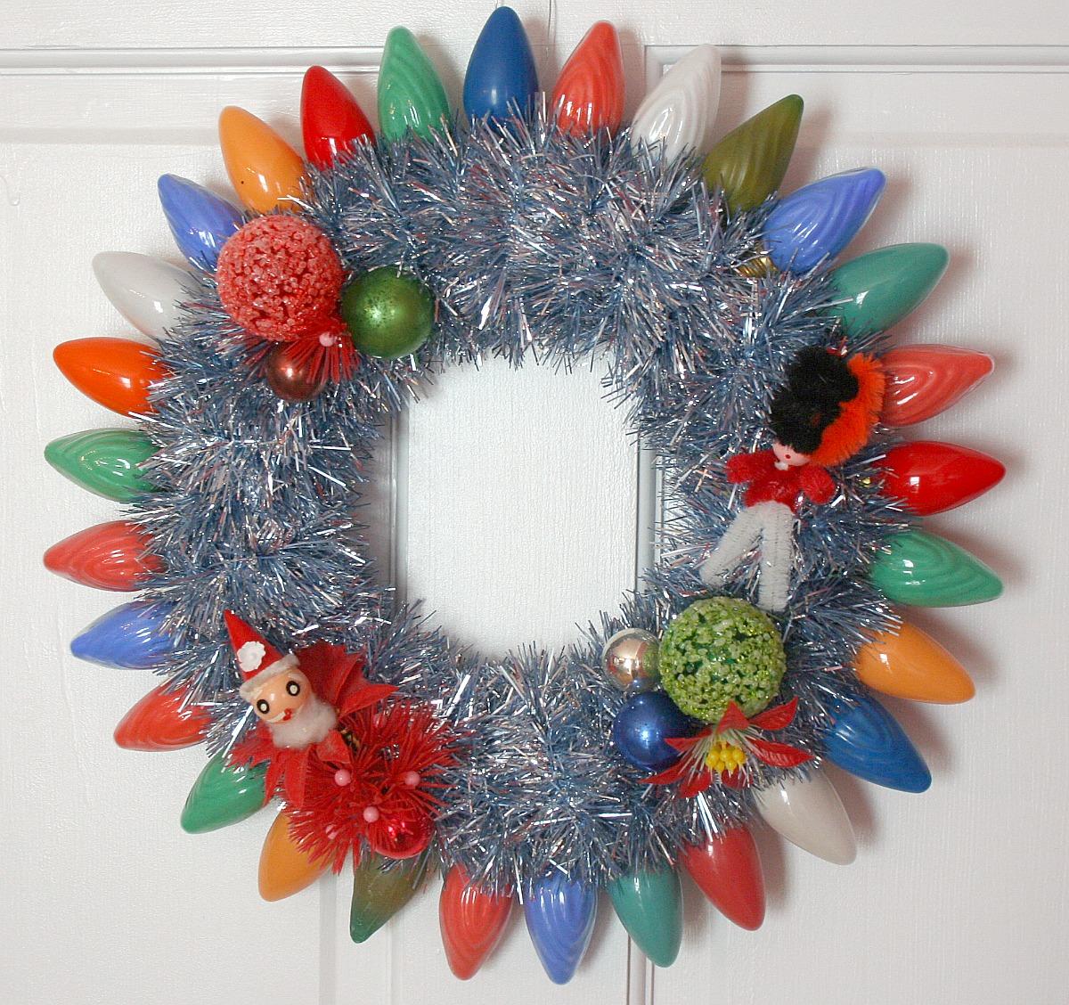 the wreath blog by georgiapeachez vintage christmas lights