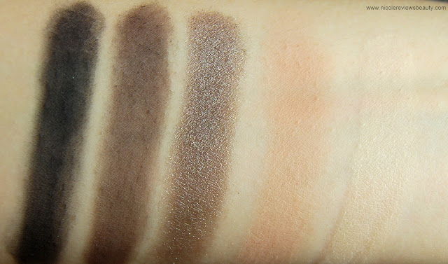 Urban Decay Smoked Eyeshadow Palette Swatches Blackout, Backdoor, Mushroom, Freestyle, Kinky
