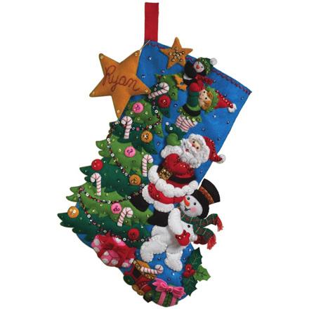 weekend kits blog felt christmas stocking kits handmade keepsakes - Christmas Stocking Kits