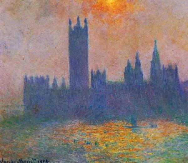 Claude Monet Londres, le Parlement, effet de soleil dans le brouillard. 1904 Cristie's. 2004