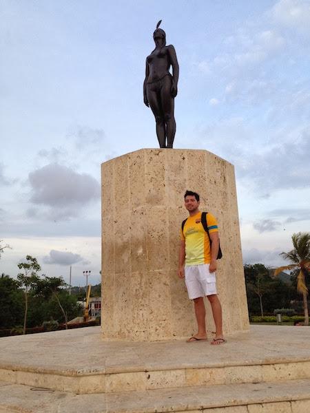 Estátua da índia Catalina