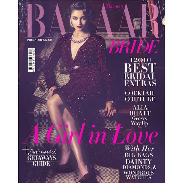 Alia Bhatt in Harper Bazaar Bride