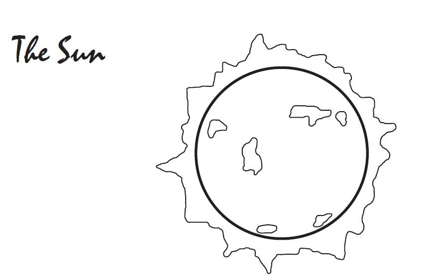 Sistema solar para colorear en inglés   Las Tic de los Chicos