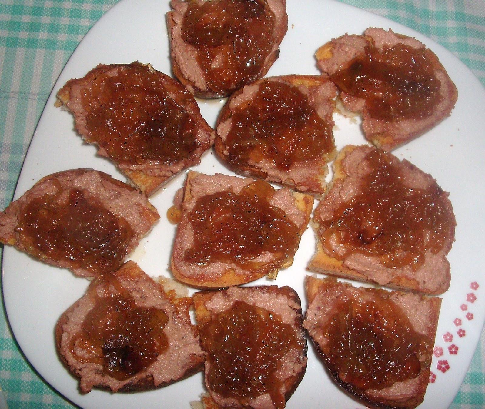 La cocina de la rubi tosta de pat de pato con cebolla for Canape de pate con cebolla caramelizada