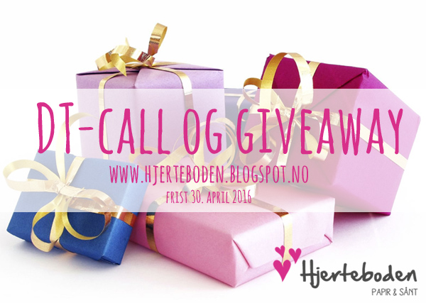DT-call og giveaway hos Hjerteboden. Frist 30. april.