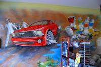 Pokój dziecięcy malowanie samochodu w pokoju chłopca, Poznań