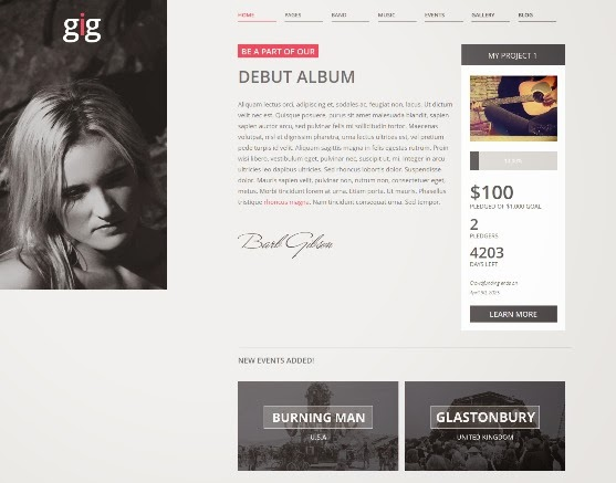 GIG Music WordPress Theme