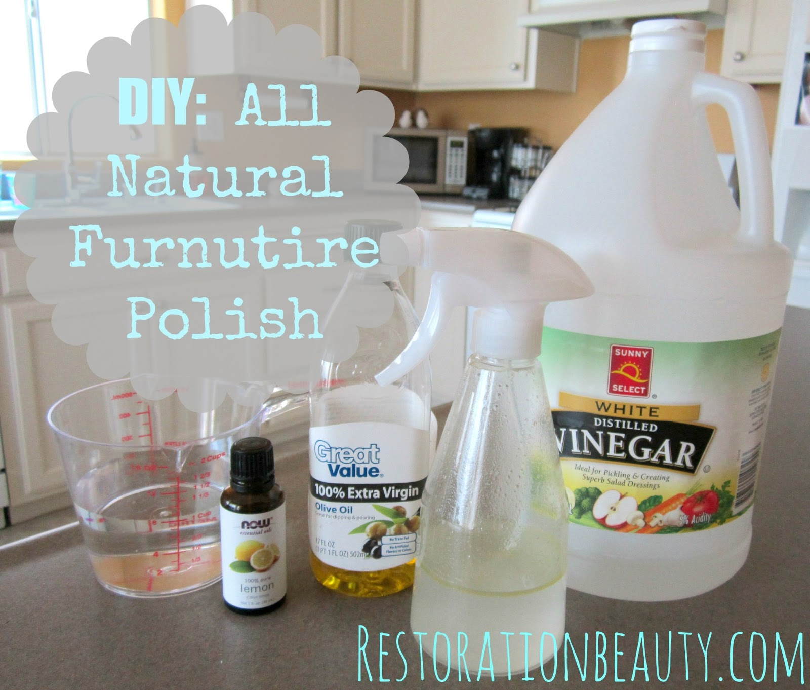 DIY  All Natural Furniture Polish. Restoration Beauty  DIY  All Natural Furniture Polish