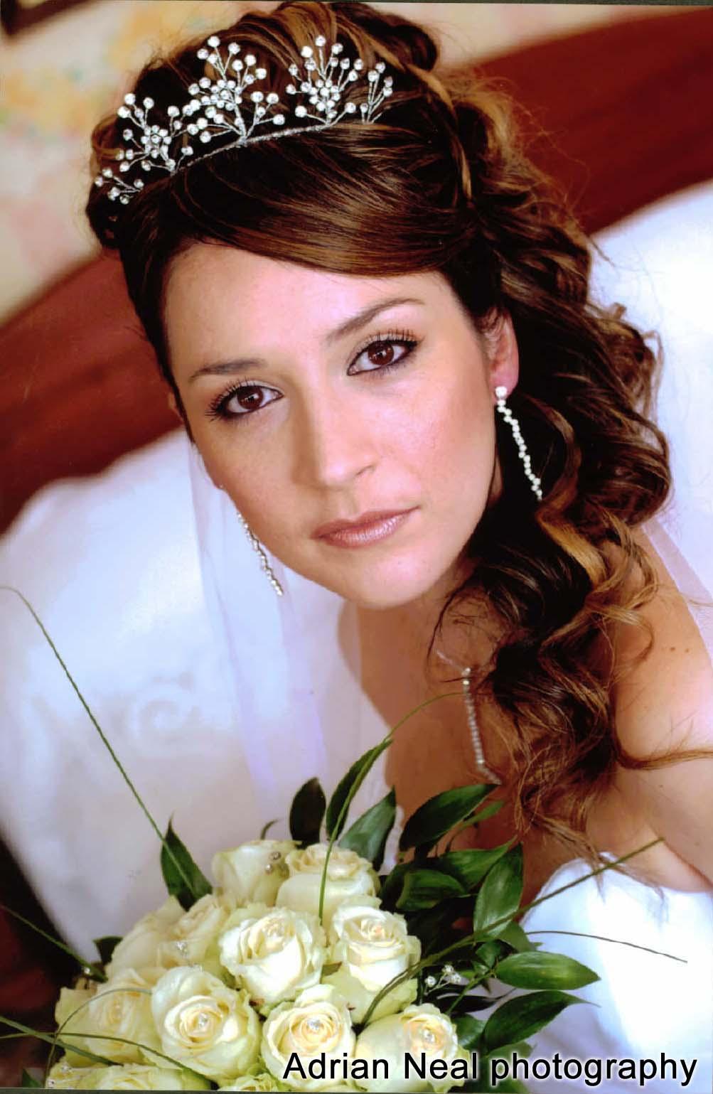 Bridal Dresses: bridal hair and makeup photos