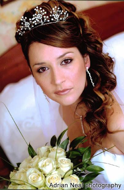 bridal dresses hair