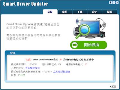 驅動程式自動更新備份工具,Smart Driver Updater 3.3.1.2 繁體中文免安裝版!