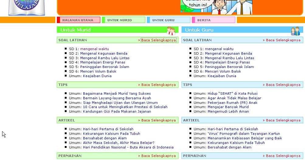 Media Belajar Latihan Dan Permainan Online Siswa Mi Tarbiyatusy Syubban Kalimulyo