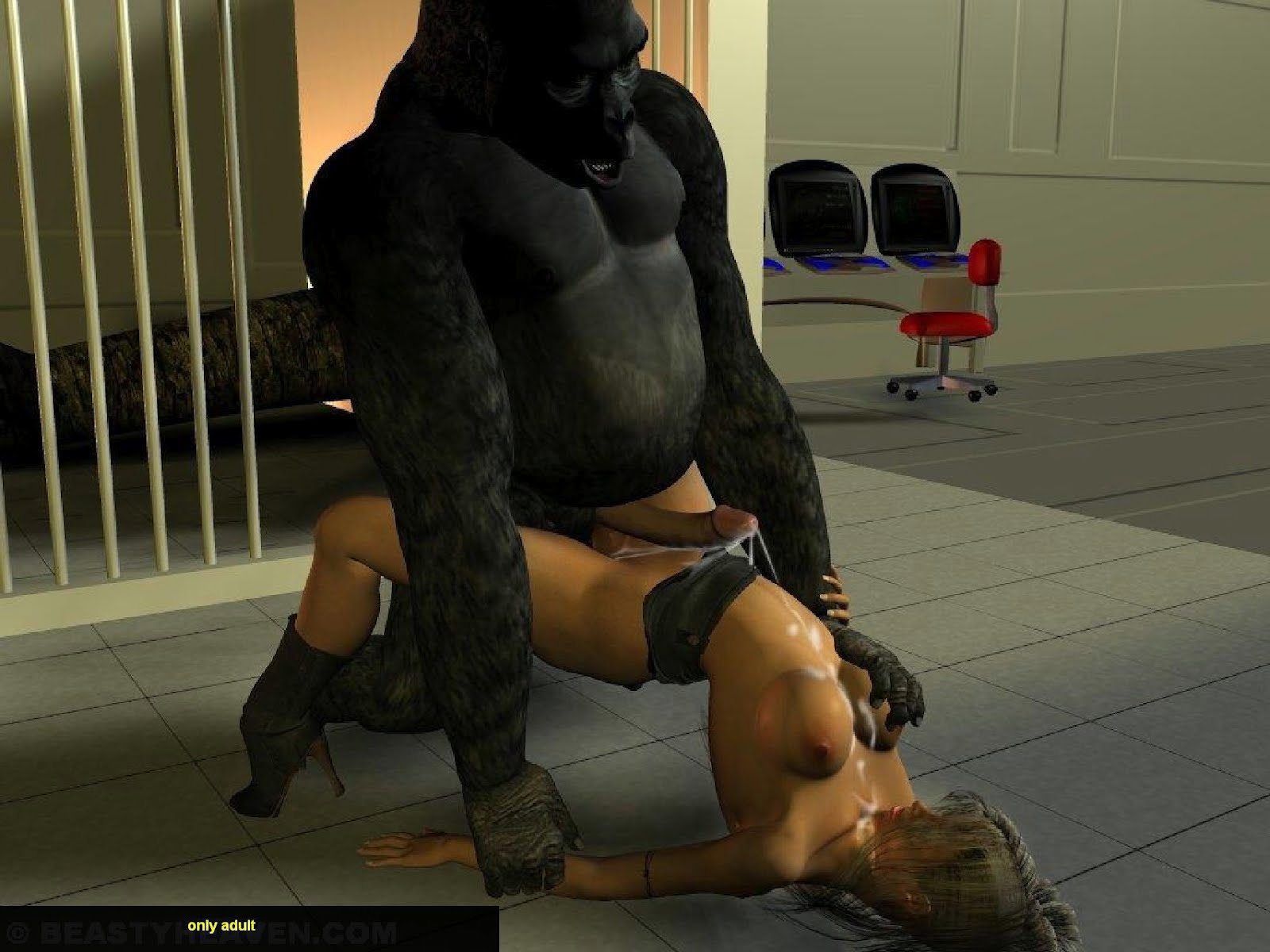 Gorilla and women fucking photo naked clip