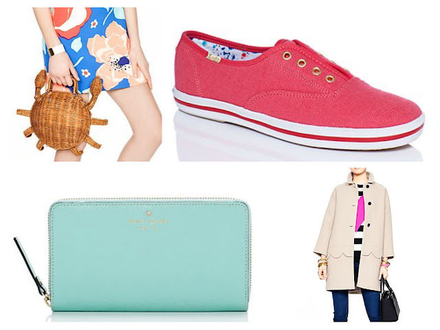 kate spade sale wicker crab clutch keds talia coat on sale