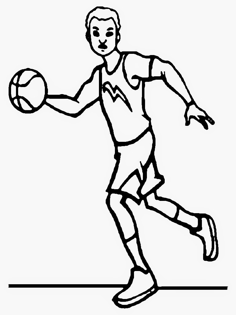 basketball player printable coloring pages