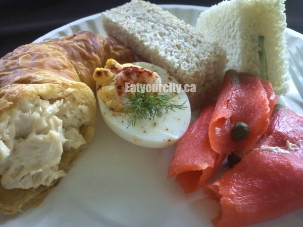 ... , crossaint and cucumber sandwiches, deviled eggs, cupcakes and more
