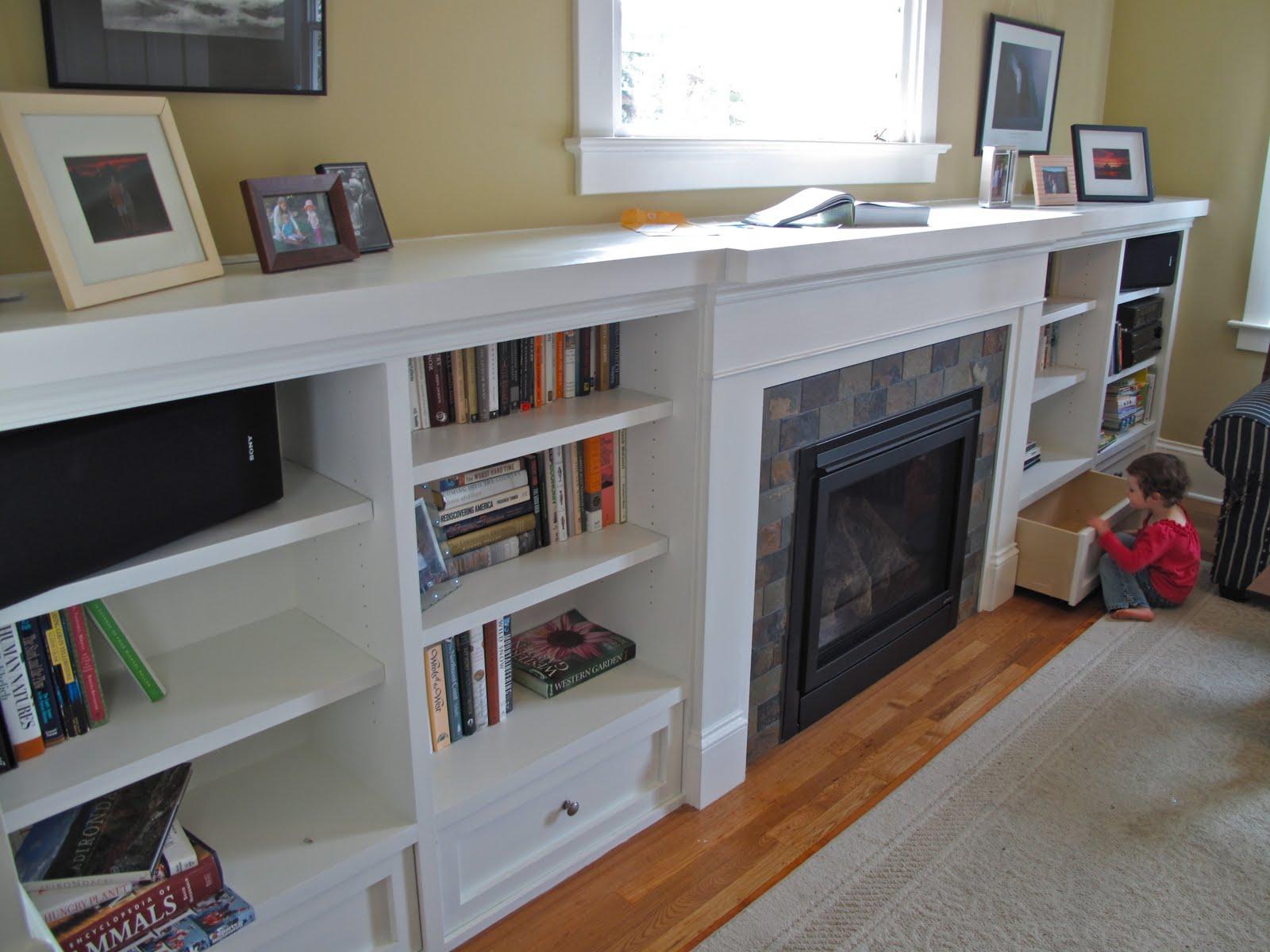 bookcase fireplace surround craftsman style fireplace mantel