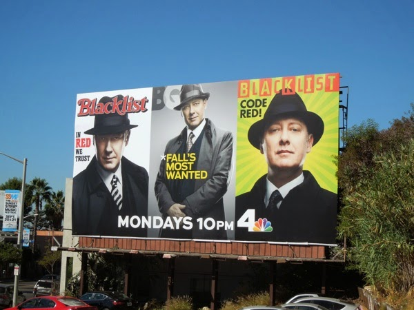 Blacklist season 2 Red Reddington magazine billboard