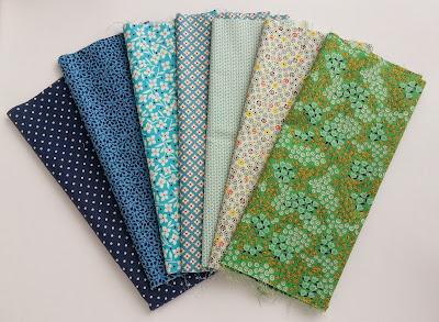 Blue, Green, and Aqua Fabrics from JoAnn's