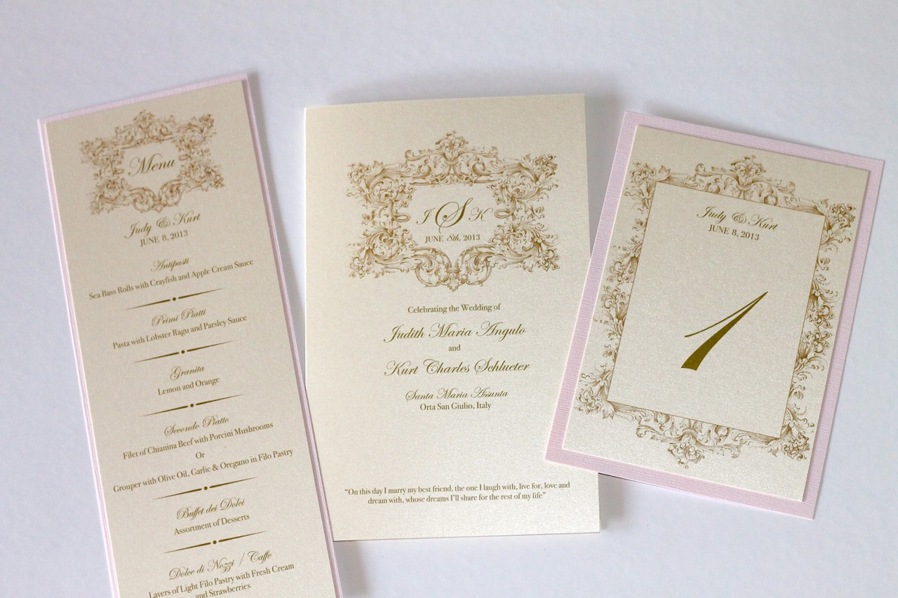 Vintage Wedding Invitations in Ivory, Gold and Blush Pink ...