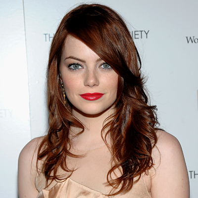 emma stone blonde bun. pictures londe hair colours