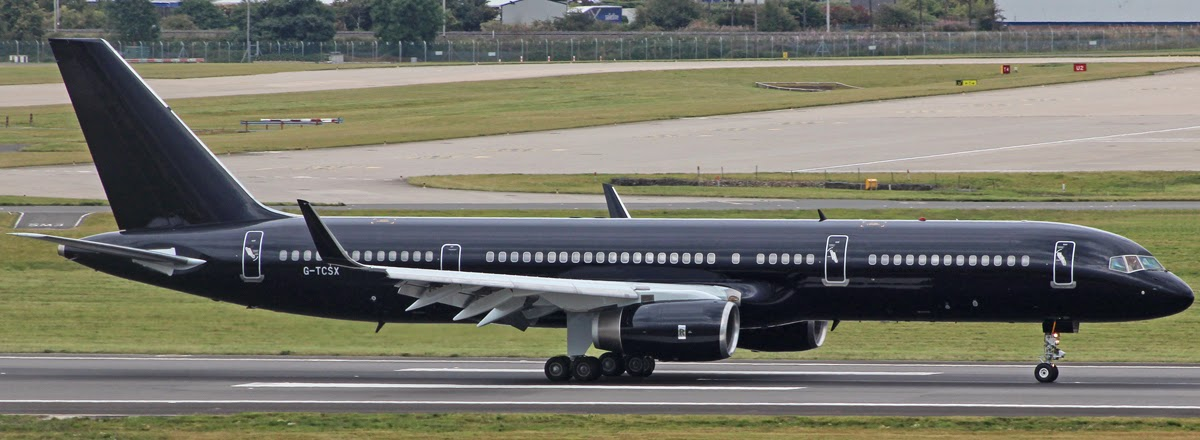 Birmingham airport photo blog wednesday 27 august 2014 tag tag aviation boeing 757 2k2 g tcsx positioned in from manchester via an air test over wales after repainting into an all black scheme the aircraft will sciox Gallery