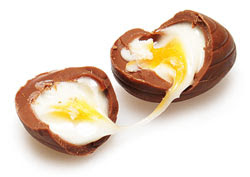 ... of my cadbury creme egg. And for the record, I've only done that once